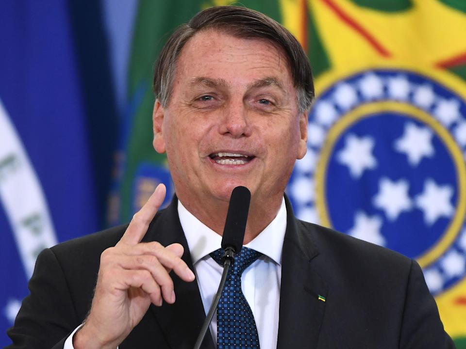 <p>Brazilian President Jair Bolsonaro has often said he will refuse to receive a vaccine</p> (AFP via Getty Images)