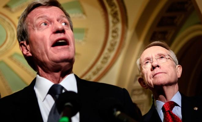 Democrats who really want to defund part ofObamaCare will have to get past Sens. Max Baucus and Harry Reid first.