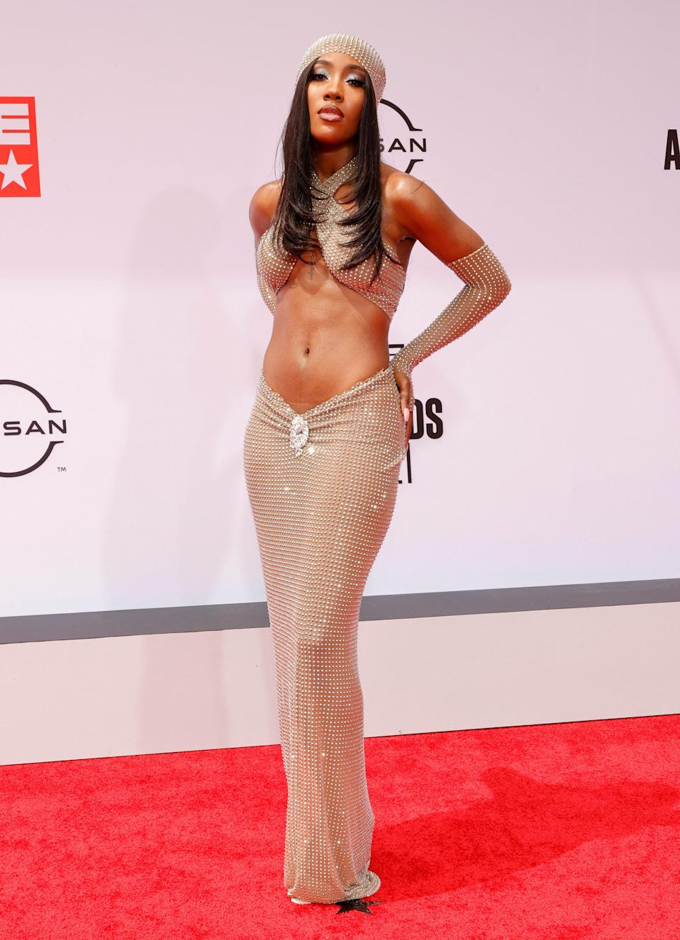 Styled by DaVonte Blanton, Sevyn was serving <em>major</em> early 2000s vibes with her outfit from La Roxx.
