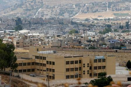 General view shows Al-Baqaa Palestinian refugee camp, near Amman