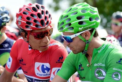 Nairo Quintana (L) and Alejandro Valverde (R) will both once again compete for the Movistar team at the 2018 Tour de France