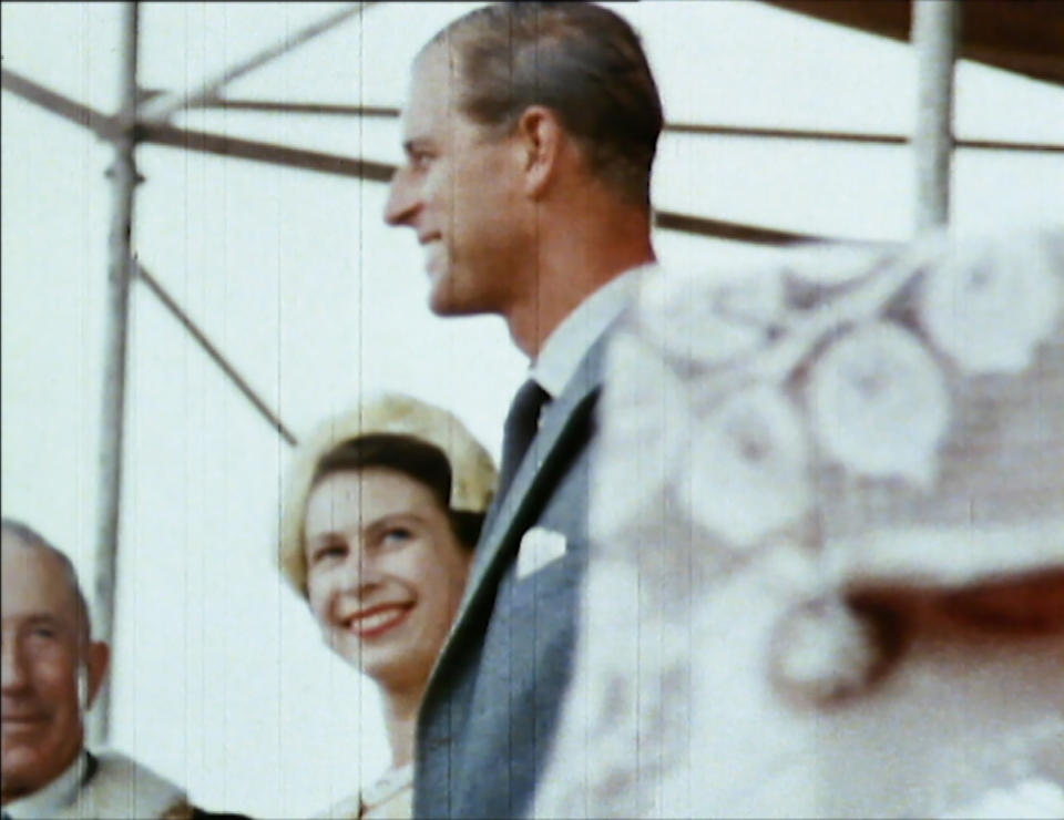 From Factual Fiction  THE QUEEN UNSEEN Thursday 8th April 2021 on ITV   Pictured: The Queen and Prince Philip in New Zealand In 1953 The Queen caught smiling at Prince Philip, while talking to one of the dignitaries at an engagement during their tour in New Zealand in 1953-54. Prince Philip was a great source of support, making the Queen laugh during a gruelling tour.  The Queen is the most famous woman in the world, yet as she reaches her 95th birthday she remains an enigma. In this unique film, we lift the mask of royalty to reveal the remarkable woman behind the throne. To learn more about the hidden private Elizabeth Windsor, who has sacrificed so much for crown and duty and discover how she has coped with increasing public demands to reveal every aspect of her private self.   Using unseen home movies, intimate informal archive and recently digitised ÔlostÕ material from some of the 116 countries she has visited, weÕll uncover the real Elizabeth Windsor.  In rare off-duty moments weÕll discover The Queen on holiday, as a mother, wife, cook, animal lover, farmer, and expert horsewoman.  This remarkable footage shows her true passions and some of the unlikely, unknown friendships she has forged away from the public eye.  (c) Factual Fiction.  For further information please contact Peter Gray 07831 460 662 peter.gray@itv.com    This photograph is © Factual Fiction and can only be reproduced for editorial purposes directly in connection with the programme. THE QUEEN UNSEEN or ITV. Once made available by the ITV Picture Desk, this photograph can be reproduced once only up until the Transmission date and no reproduction fee will be charged. Any subsequent usage may incur a fee. This photograph must not be syndicated to any other publication or website, or permanently archived, without the express written permission of ITV Picture Desk. Full Terms and conditions are available on the website https://www.itv.com/presscentre/itvpictures/terms
