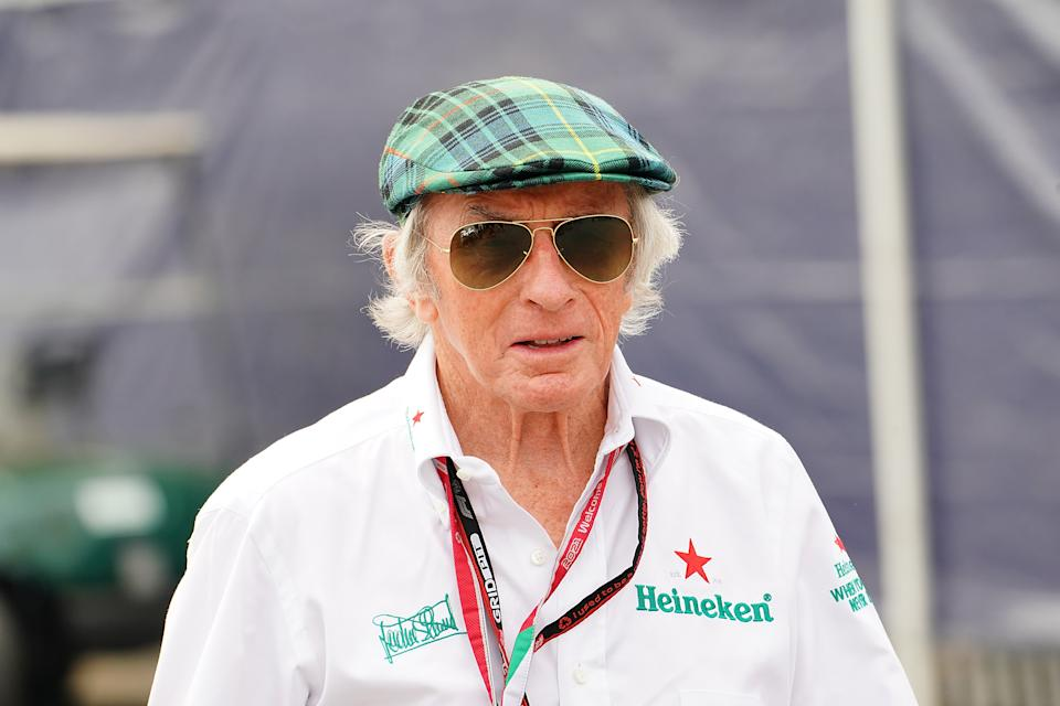 Sir Jackie Stewart (pictured) during practice ahead of the F1 Grand Prix of Italy.