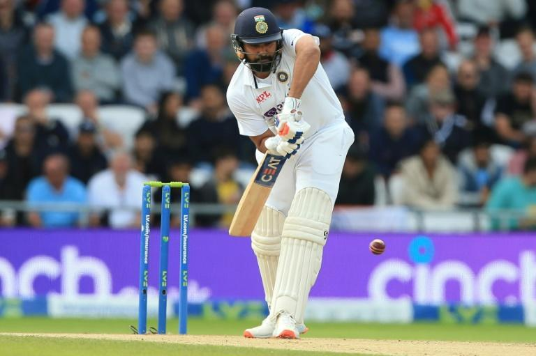 Keeping England at bay -India's Rohit Sharma made a fifty in the third Test at Headingley on Friday (AFP/Lindsey Parnaby)