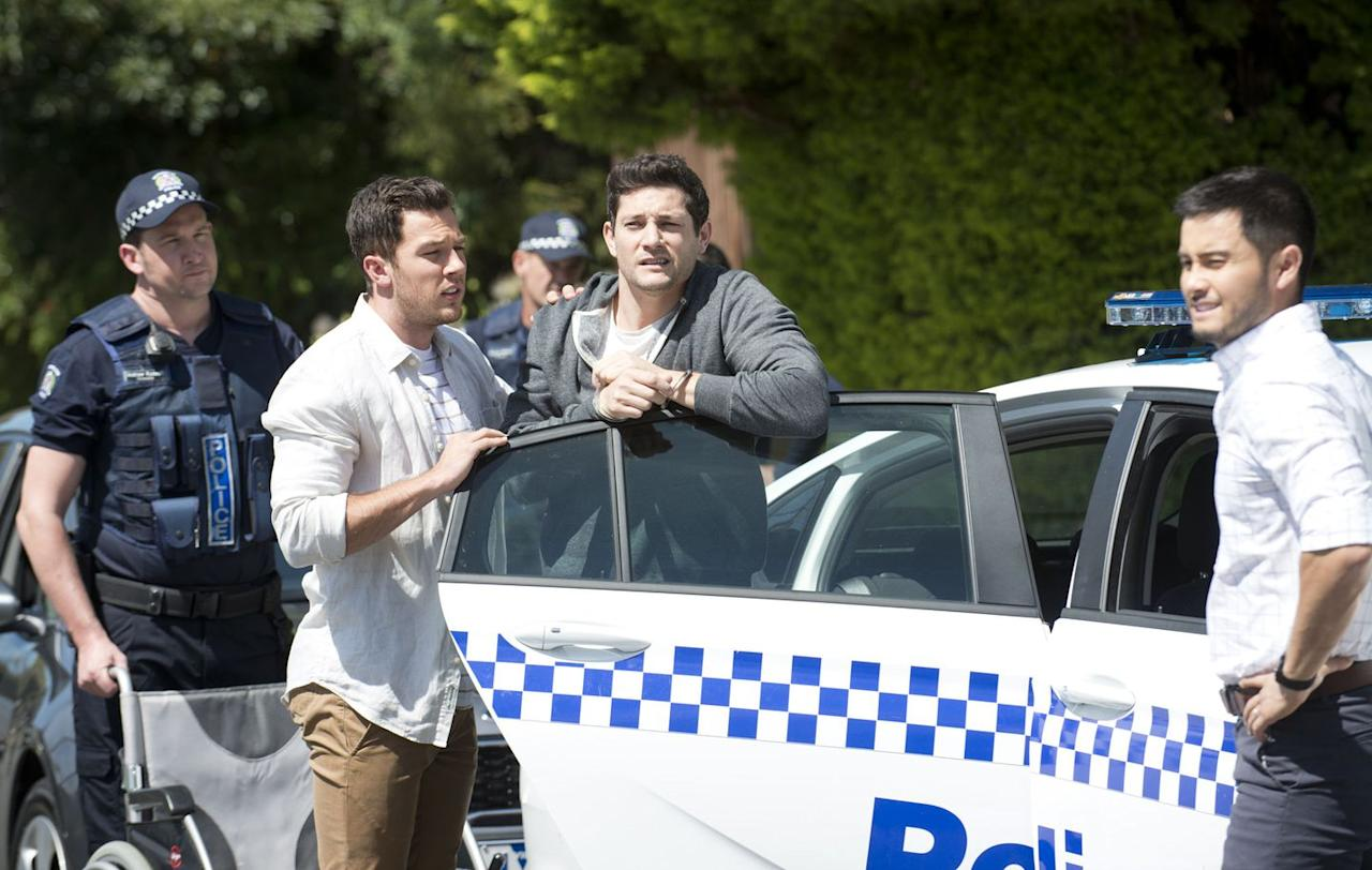 <p>David is also on stand-by to offer support, while the police keep a close eye on Finn. </p>