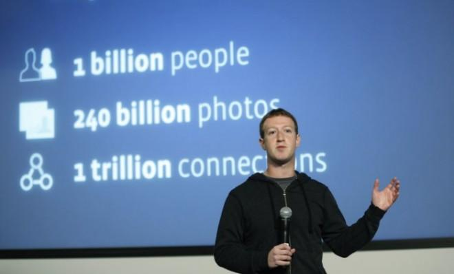 Facebook CEO Mark Zuckerberg introduces the social network's graph search feature on Jan. 15.