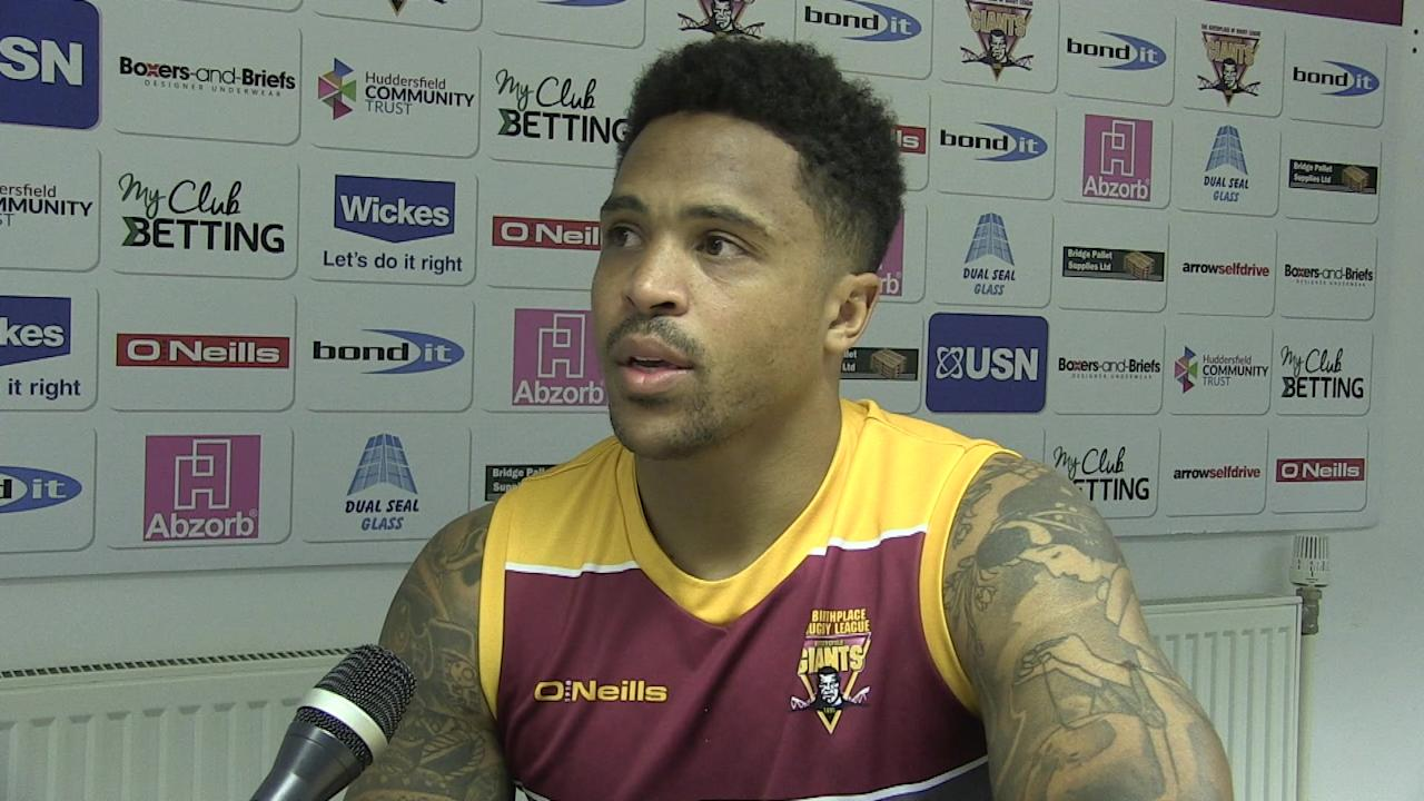 Giants player Jordan Turner Rick Stone talking ahead of the Betfred Superleague Super 8's match v Wigan