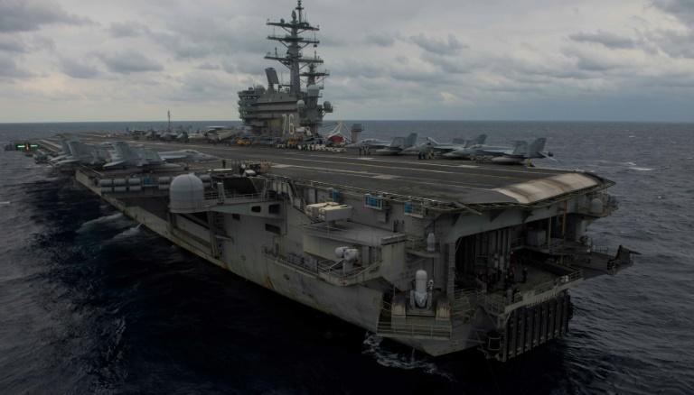 The USS Ronald Reagan is leading a joint effort by the US and Japanese navies to find the missing sailors