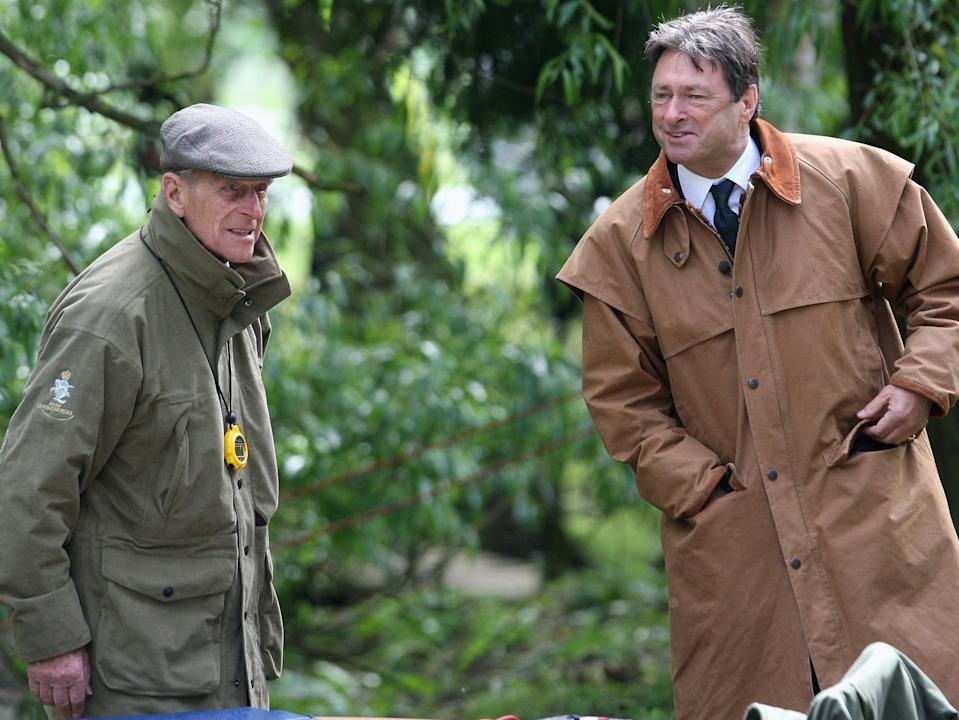<p>Prince Philip with Alan Titchmarsh in 2009</p> (Getty Images)