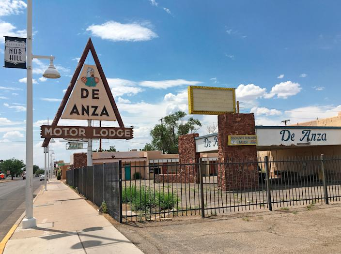 In this June 24, 2016, photo, the closed De Anza Motor Lodge sits along Route 66 in Albuquerque, Nex Mexico, and recently has been highlighted as one of the few places that allowed black travelers to stay during segregated times.