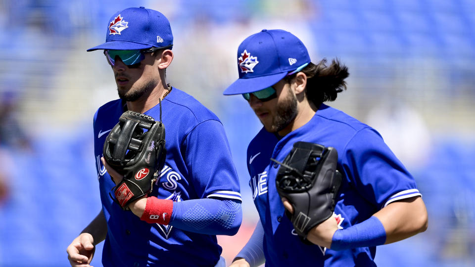 Cavan Biggio and Bo Bichette have shown promise at the MLB level, but they still have a lot to prove. (Photo by Douglas P. DeFelice/Getty Images)