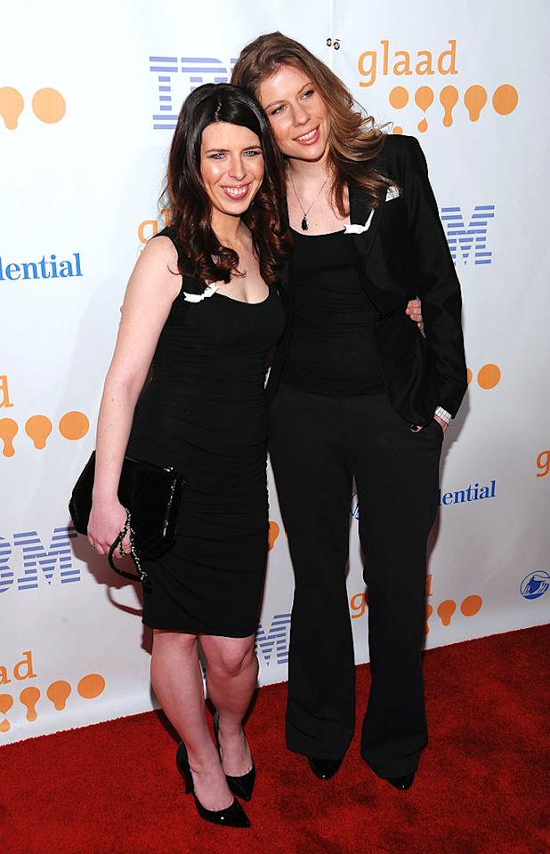 """Actress Heather Matarazzo (""""The Princess Diaries"""") and her girlfriend Carolyn Murphy were all smiles at the event, which honors the media for their fair, accurate, and inclusive representations of the lesbian, gay, bisexual, and transgender (LGBT) community and the issues that affect their lives. Dimitrios Kambouris/<a href=""""http://www.wireimage.com"""" target=""""new"""">WireImage.com</a> - March 28, 2009"""