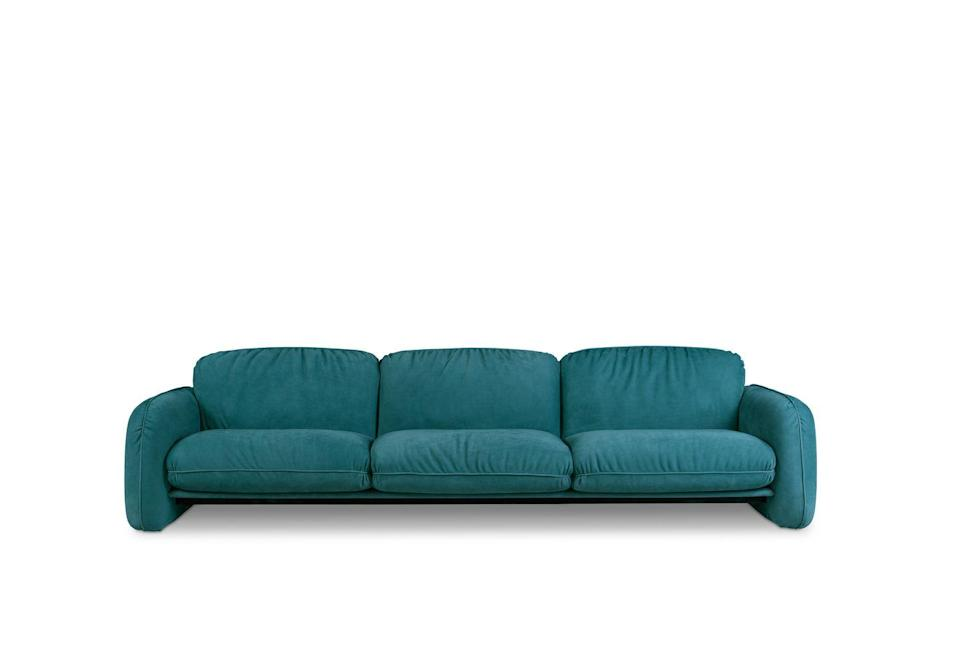 "<p>Knockout curves are the main feature of this sofa by Draga & Aurel. It's welcoming with a cloud-like softness that feels very current. £11,450, <a href=""https://www.baxter.it/en/product/brigitte-0"" rel=""nofollow noopener"" target=""_blank"" data-ylk=""slk:baxter.it"" class=""link rapid-noclick-resp"">baxter.it</a></p>"