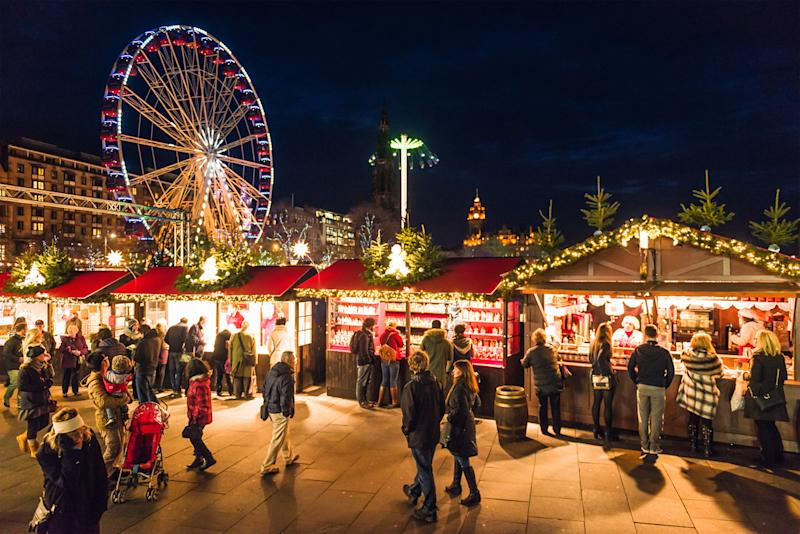 Edinburgh's famous Christmas market: Getty