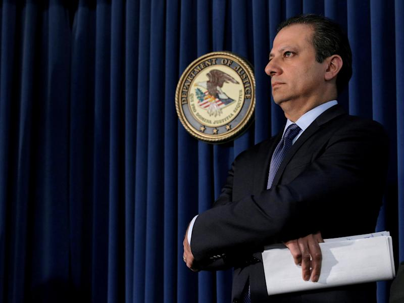 US Attorney Preet Bharara announced on Twitter he was fired after he failed to resign: Reuters