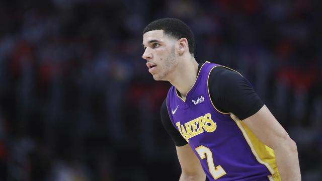 "Lakers rookie <a class=""link rapid-noclick-resp"" href=""/nba/players/5764/"" data-ylk=""slk:Lonzo Ball"">Lonzo Ball</a> disappointed fantasy owners from the 3-point arc. (via AP)"