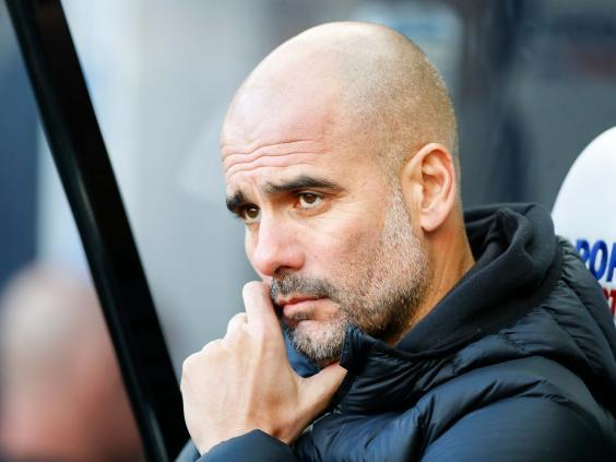 Pep Guardiola's men have won just once from their last five games (EPA)