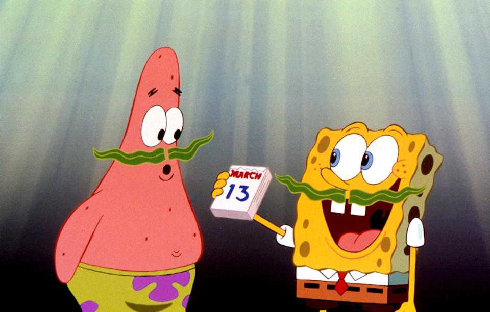 """<p><strong>Paramount+'s Description:</strong> """"Television's favorite addle-brained ocean dweller comes to the big screen with this adventure that finds SpongeBob (voice of Tom Kenny) embarking on a quest with his best buddy Patrick to retrieve King Neptune's stolen crown and clear the name of his boss, Mr. Krabs.""""</p> <p><a href=""""https://www.paramountplus.com/movies/spongebob-squarepants-movie/mM6oBlGnK1Tt1OzTyjM8vc_0QE1vui9k/"""" class=""""link rapid-noclick-resp"""" rel=""""nofollow noopener"""" target=""""_blank"""" data-ylk=""""slk:Watch The SpongeBob SquarePants Movie on Paramount+ here!"""">Watch <strong>The SpongeBob SquarePants Movie</strong> on Paramount+ here!</a></p>"""