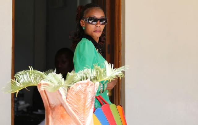 Jeptoo arrives at the Athletics Kenya headquarters after failing a doping test, in Kenya's capital Nairobi