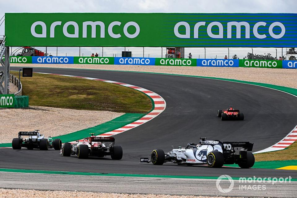 "Sebastian Vettel, Ferrari SF1000, George Russell, Williams FW43, Antonio Giovinazzi, Alfa Romeo Racing C39, Daniil Kvyat, AlphaTauri AT01<span class=""copyright"">Mark Sutton / Motorsport Images</span>"