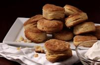 "<p>Biscuits are a classic, all-American side to add to any weeknight dinner or holiday meal. Seriously, flaky, buttery biscuits are good any time for any reason, and make great sandwiches too. After biscuits, Oklahomans were looking up how to make <a href=""https://www.thedailymeal.com/recipes/double-delight-peanut-butter-cookies?referrer=yahoo&category=beauty_food&include_utm=1&utm_medium=referral&utm_source=yahoo&utm_campaign=feed"" rel=""nofollow noopener"" target=""_blank"" data-ylk=""slk:peanut butter cookies"" class=""link rapid-noclick-resp"">peanut butter cookies</a>.</p> <p><a href=""https://www.thedailymeal.com/best-recipes/sourdough-biscuits?referrer=yahoo&category=beauty_food&include_utm=1&utm_medium=referral&utm_source=yahoo&utm_campaign=feed"" rel=""nofollow noopener"" target=""_blank"" data-ylk=""slk:For a Sourdough Biscuits recipe, click here."" class=""link rapid-noclick-resp"">For a Sourdough Biscuits recipe, click here.</a></p>"