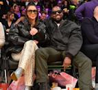 <p>The couple enjoyed a date day at the basketball in January 2020.</p>