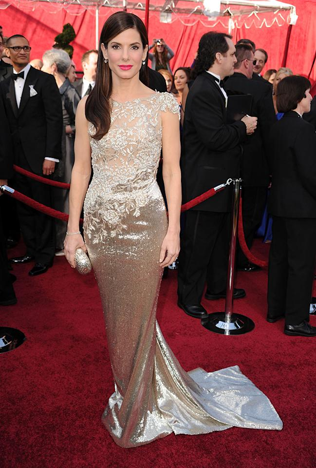 Sandra Bullock arrives at the 82nd Annual Academy Awards held at the Kodak Theatre on March 7, 2010 in Hollywood, California.  (Photo by Steve Granitz/WireImage)