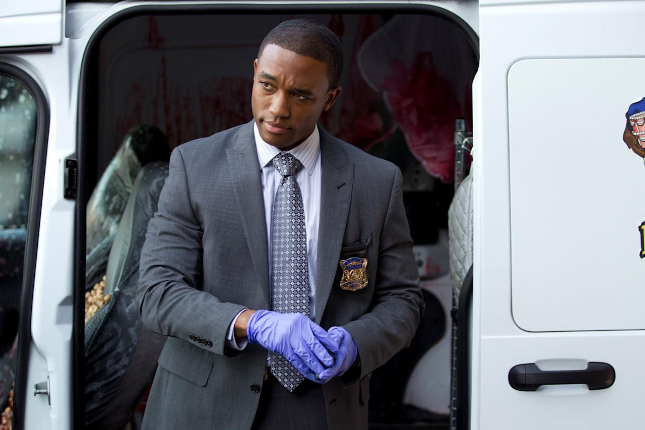 "Lee Thompson Young in the ""Rizzoli & Isles"" episode, ""Over/Under."""