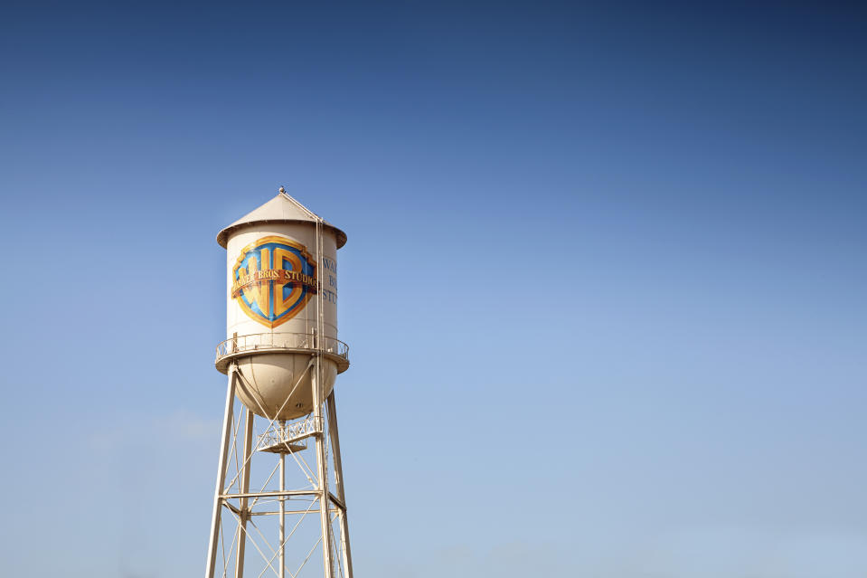 Los Angeles, United States - October 4, 2012: Warner Bros Studio Tower is a recognizable symbol of one the most known motion picture studio in the world.