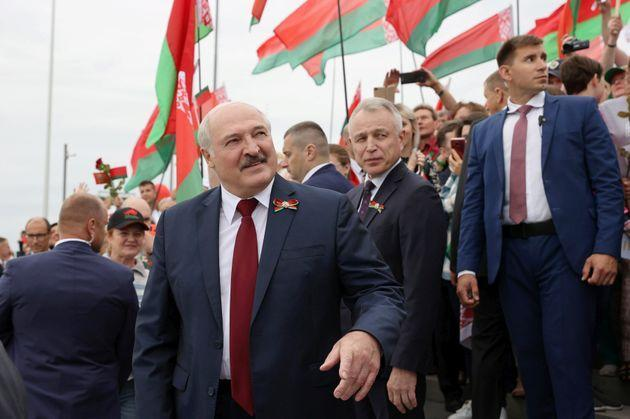 President Lukashenko, whose election a year ago has been disputed by the opposition (Photo: Maxim Guchek via Getty Images)