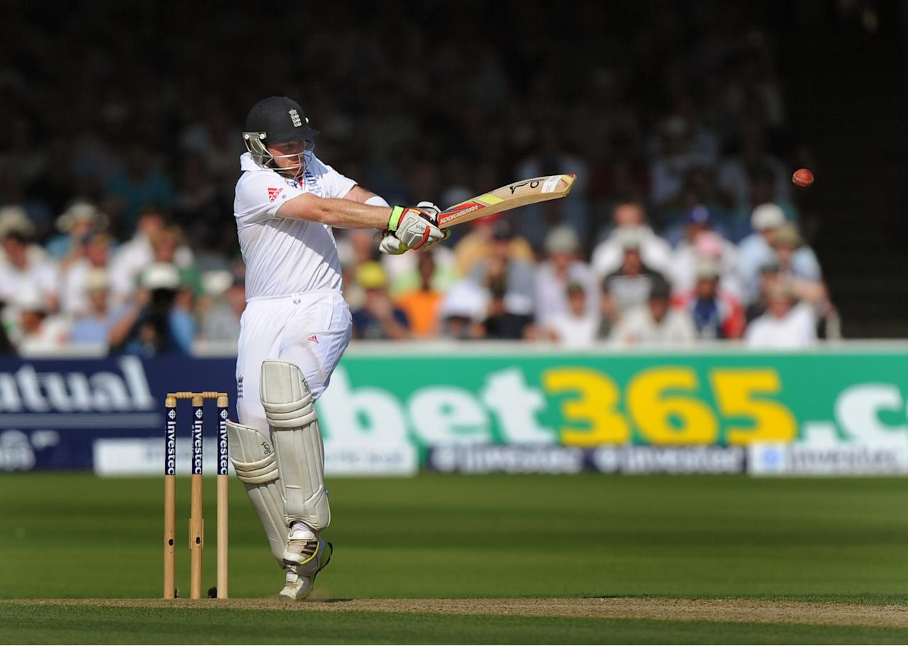 England's Ian Bell bats on day One of the Second Investec Ashes Test at Lord's Cricket Ground, London.