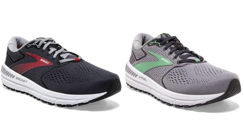 The Brooks Beast 20 and Ariel 20 are highly breathable walking shoes.