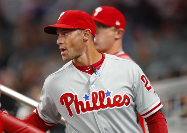 At the Phillies home opener, fans greeted Gabe Kapler with a lusty chorus of boos. (AP Photo)