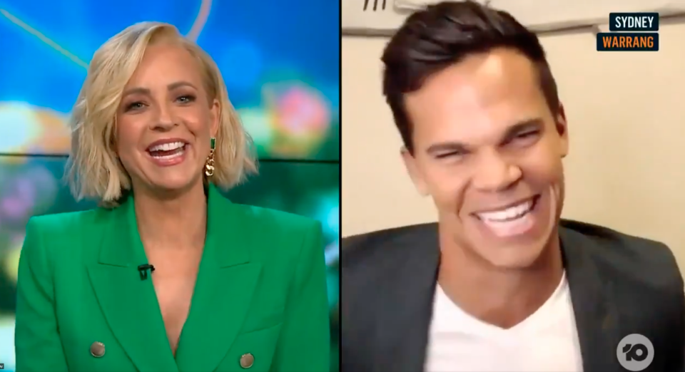 Carrie Bickmore and Jimmy Nicholson on The Projec