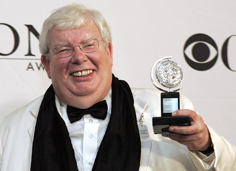 """Richard Griffiths of """"The History Boys"""" poses for a picture with his Tony for Best Performance by a Leading Actor in Play at the 60th Annual Tony Awards in this Sunday, June 11, 2006 file photo  in New York. Griffiths, the British actor who played the boy wizard's unsympathetic Uncle Vernon in the """"Harry Potter"""" movies, has died. He was 65.  Agent Simon Beresford announced Friday March 2013 that Griffiths died Thursday of complications following heart surgery at University Hospital of Coventry in central England. (AP Photo/Richard Drew, file)"""