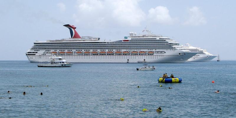 Carnival Valor ship in Grand Cayman
