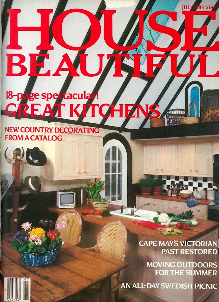 <p>We can't decide what we love more: The arched door, the retro television, or those gorgeous wood slab counters.</p>