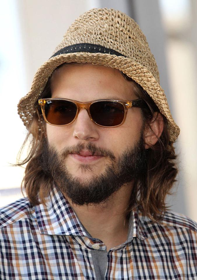 "Dear Ashton Kutcher, Please get a haircut and trim that beard. We already have John Mayer attempting to steal Johnny Depp's look. XOXO, omg! Frederick M. Brown/<a href=""http://www.wireimage.com"" target=""new"">WireImage.com</a> - September 19, 2011"