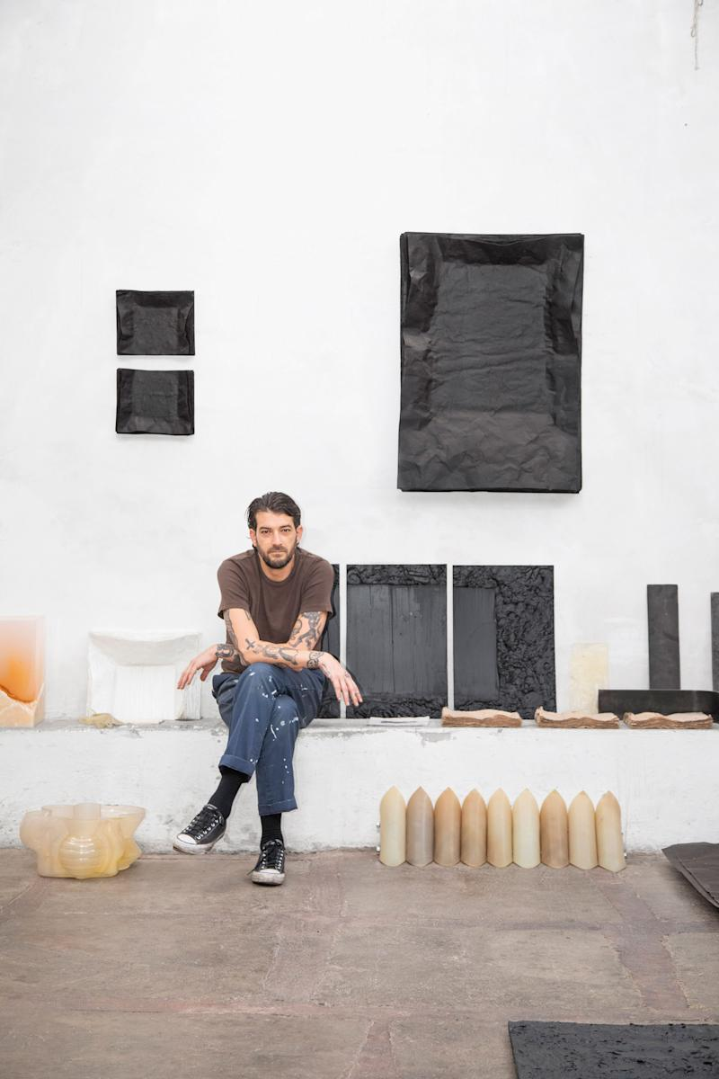 """""""Part of moving here was the chance to do more working and building with my hands,"""" says Brian Thoreen, the California-born designer and artist, who arrived in Mexico City almost three years ago after making his name in Los Angeles. """"I just felt better here, more alive."""" He has since gotten back to his fabrication roots, experimenting with industrial materials like rubber, silicone, tar paper, and wood glue. Along the way, he and some friends founded Masa, a traveling exhibition program, in response to the city's growing art-and-design scene. """"There are some common threads here,"""" he explains. """"The materials, the processes, the influence of local architecture. When you fall in love with Mexico, you fall in love with that stuff."""" brianthoreen.com"""