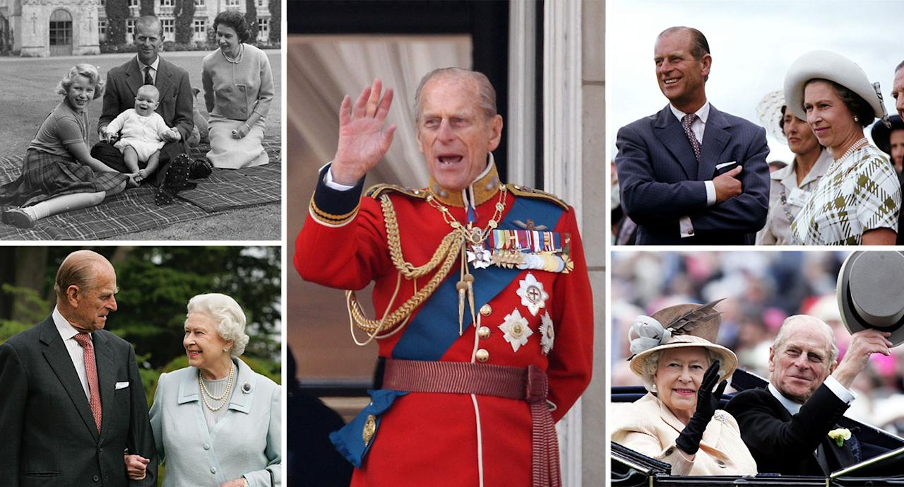 Prince Philip has been by the Queen's side throughout her reign. (Getty)