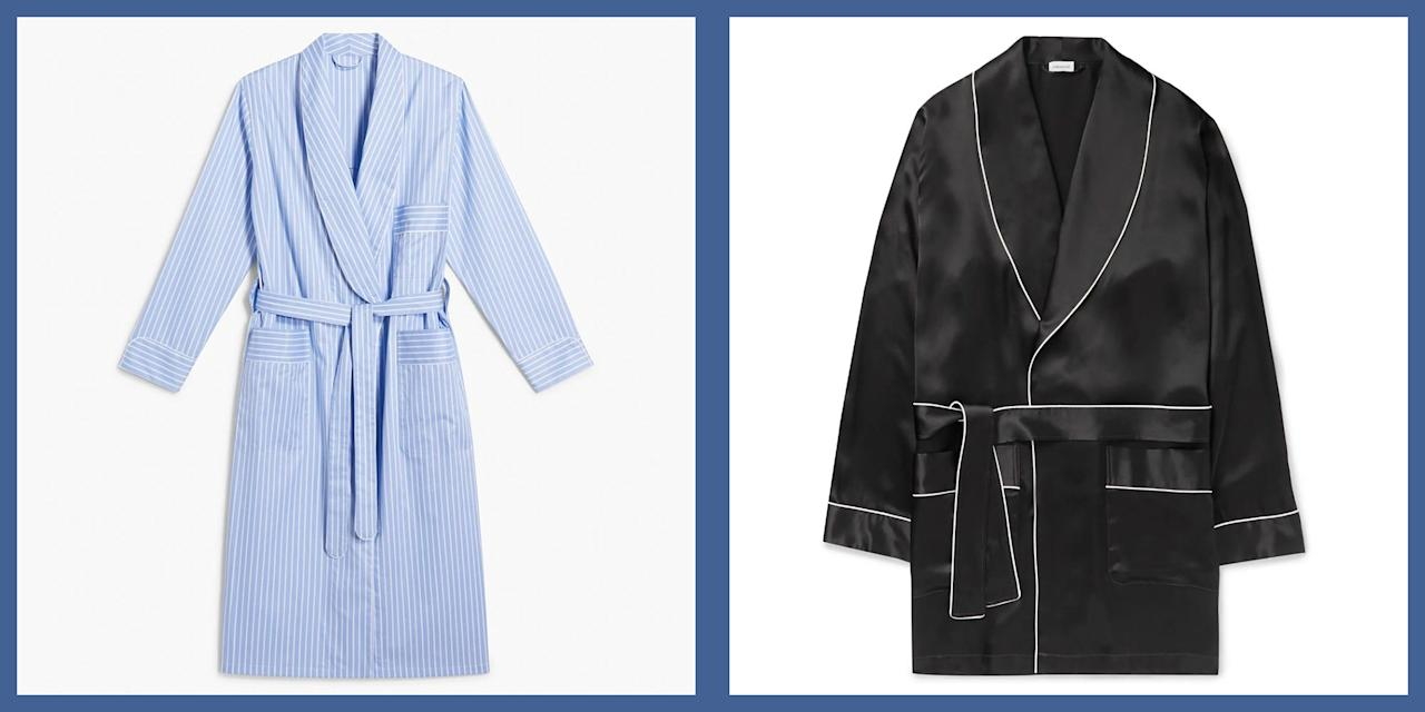 <p>When it comes to at-home attire, there is perhaps no piece more essential, or stylish than a quality robe. The fluffy topper is often relegated to the category of luxury reserved for hotels, but the truth is, once the man in your life gets a taste of the comfort and style provided by a quality bathrobe, he'll wonder how he ever lived without one. Here, 6 styles that fit every kind of taste. </p>