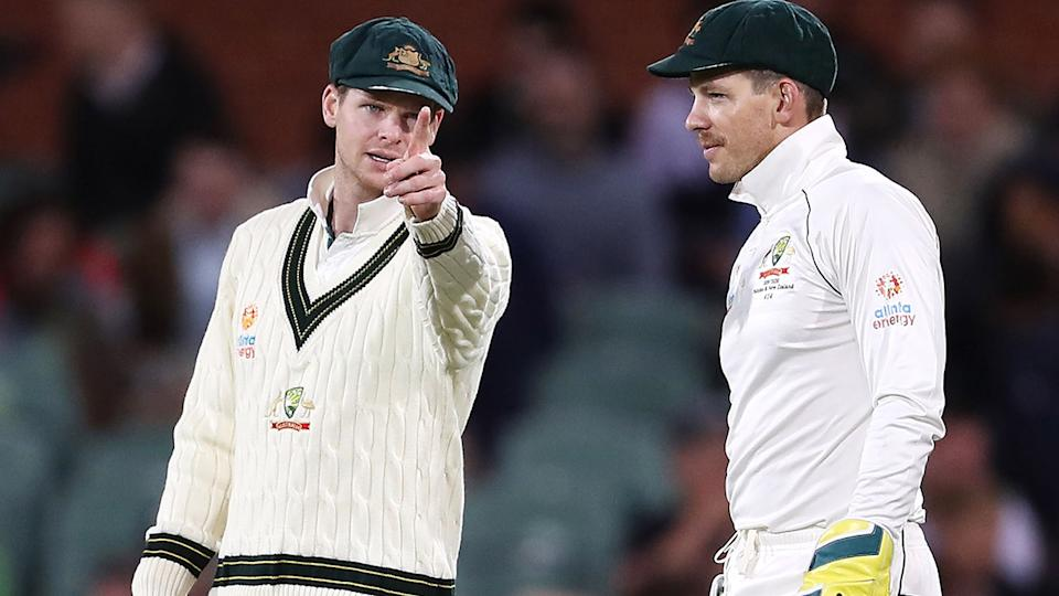 Steve Smith and Tim Paine, pictured here in action against Pakistan.
