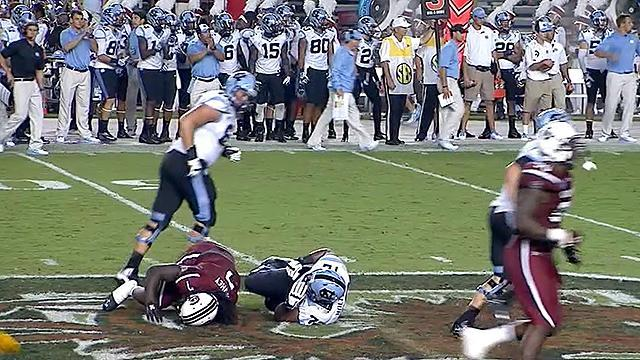 You make the call: UNC coach Larry Fedora says low hit on Clowney had 'no malicious intent'