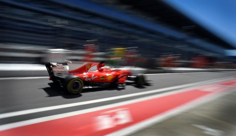 Ferrari's Sebastian Vettel during the practice sessions ahead of the Russian Grand Prix in Sochi