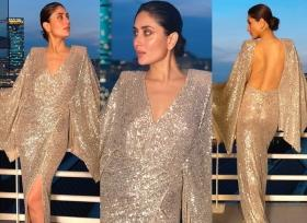 Kareena Kapoor is glowing for the gods in this risqué backless dress