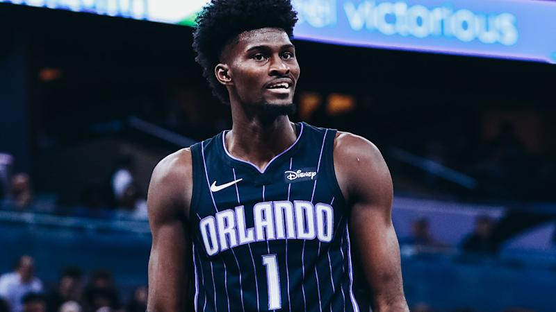 Jonathan Isaac, pictured here in action for the Orlando Magic.