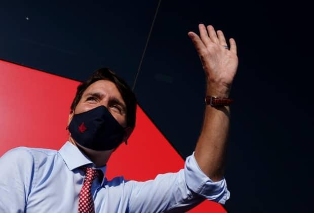 Liberal Leader Justin Trudeau makes a campaign stop in Hamilton, Ont., on Tuesday, Aug 24, 2021. (Sean Kilpatrick/Canadian Press - image credit)