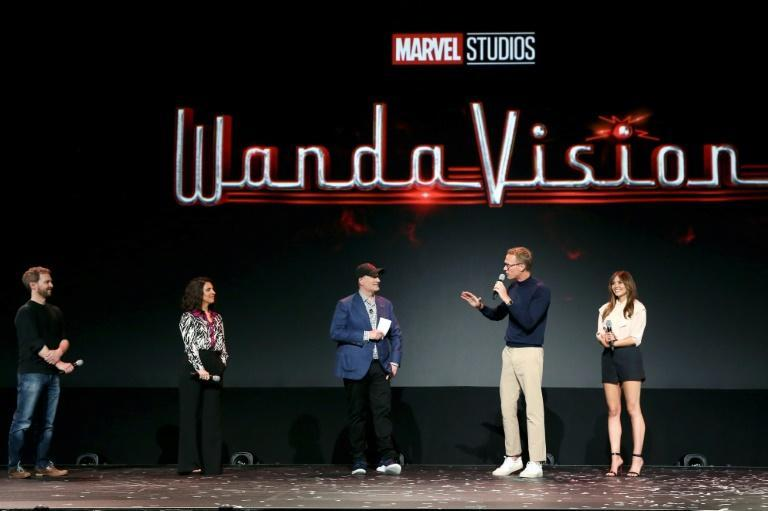 """WandaVision"" on Disney+ stars witch Wanda (Elizabeth Olsen) and other-worldly android Vision (Paul Bettany), two superheroes who struck up an unlikely but fan-favorite romance across several Marvel superhero films"