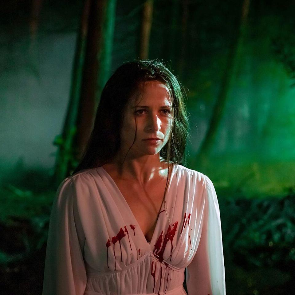 """<p>Horror surroundings set in or around cinema houses are ripe for the genre due to the number of late-night hours and perpetual screen-staring that goes into the job, which could easily turn someone into a zombie. But Welsh writer-director Prano Bailey-Bond, with co-writer Anthony Fletcher, goes beyond this low-hanging fruit to tell a story about trauma and triggers—both familial and professional. Enid (Niamh Algar), a film censor, views myriad movies to determine whether they're suitable for audiences. While doing so one night, she becomes convinced that a particularly disturbing video nasty stars her sister who disappeared years prior and is presumed dead. At first steadying the film on Enid's growing obsession with determining whether a notorious director exploited her sibling, Bailey-Bond soon throws audiences into her protagonist's psychological descent with stunning visual flair. By the end, you'll be second-guessing your own sanity. </p><p>In theaters now, <a href=""""https://www.censormovie.com/watch-at-home/"""" rel=""""nofollow noopener"""" target=""""_blank"""" data-ylk=""""slk:available to stream June 18"""" class=""""link rapid-noclick-resp"""">available to stream June 18</a></p>"""