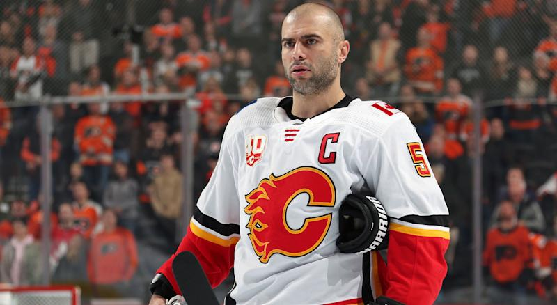 Mark Giordano has not followed up his Norris Trophy year as well as many had expected. (Photo by Len Redkoles/NHLI via Getty Images)